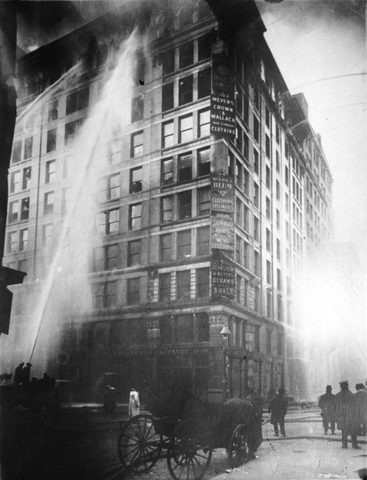 Image of Triangle Shirtwaist Factory fire on March 25 1911